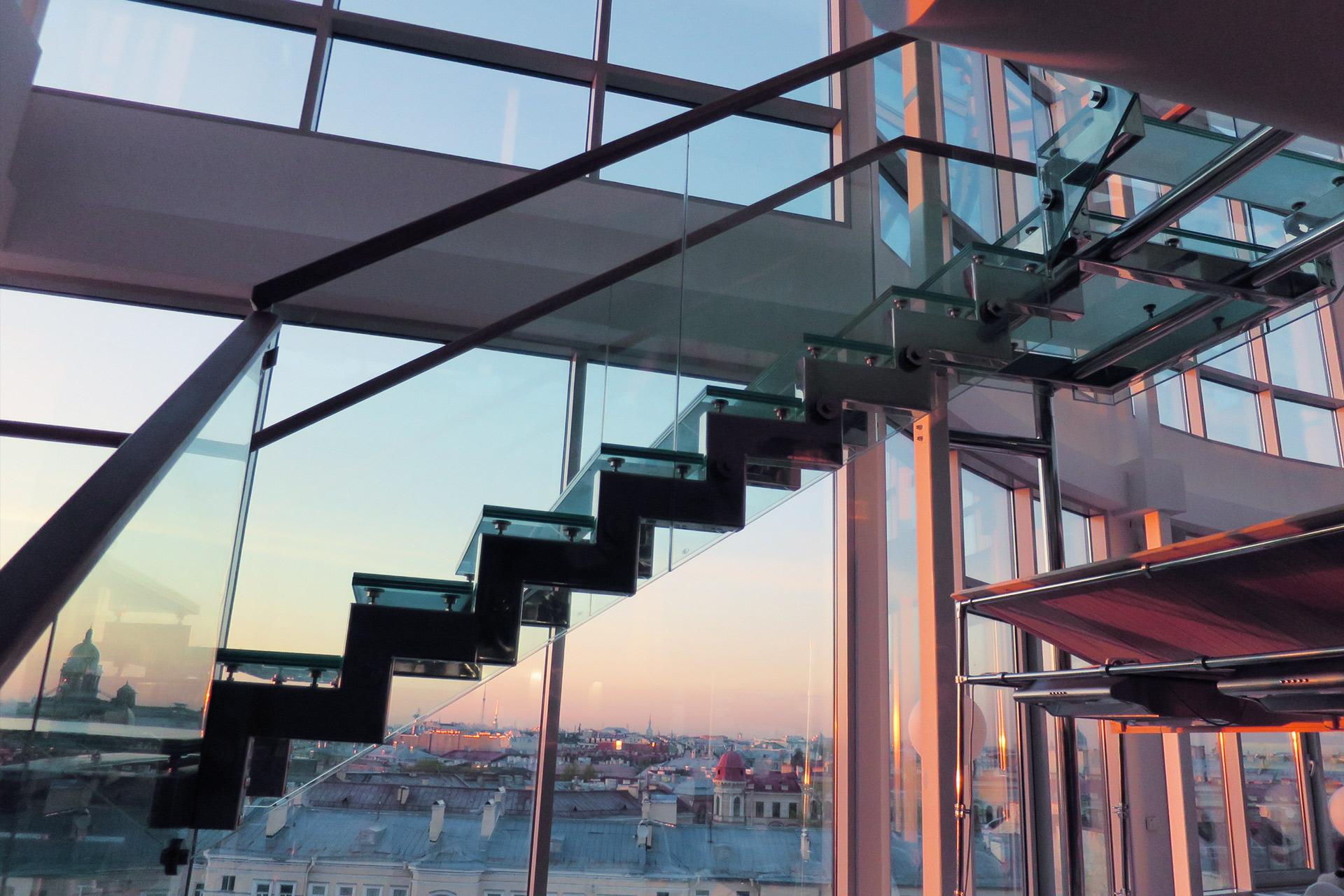 escalier en verre - vitrerie savoyarde